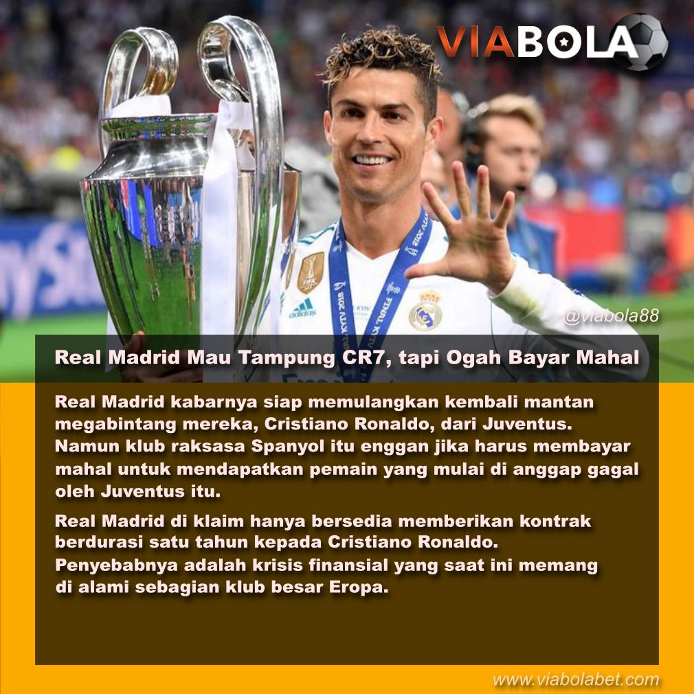 Real Madrid Mau Tampung CR7, tapi Ogah Bayar Mahal